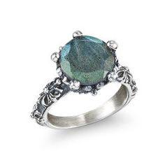 Labradorite Crown Ring
