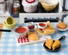 Miniature Tomato Soup and Grilled Cheese by CuteinMiniature