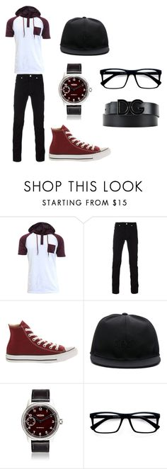 """""""Cris"""" by jazmin-hernandez-3 on Polyvore featuring Versace, Converse, Givenchy, Weiss, EyeBuyDirect.com, Dolce&Gabbana, men's fashion y menswear"""