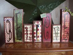 Believe wood blocks