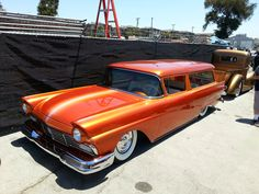 Custom 1957 Ford Station Wagon with some really great bodywork and paint....