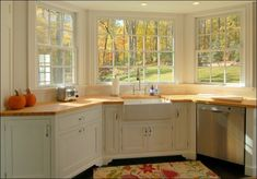 Lovely Kitchen With Wooden Countertops