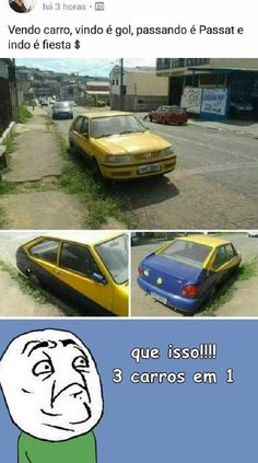 Um carro pra fazer sucesso! Wtf Funny, Funny Memes, My Lord, Some Fun, Haha, The Incredibles, Cool Stuff, Old Memes, Funny Conversations