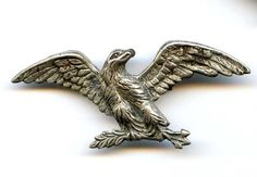 Vtg 1940s Sterling Eagle Branch Stamped Brooch Pin 3.7Grams #NotSigned