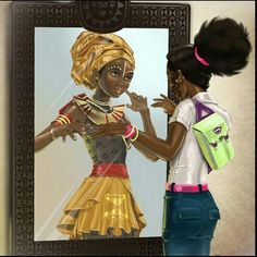 She sees a African queen