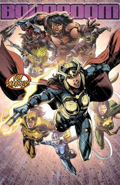 Big Barda leads the Female Furies along with Kalibak, Steppenwolf, and Kanto