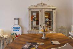 Apartamento Alma Lusa, uma casa portuguesa, com certeza!: Salas de jantar translation missing: pt.style.salas-de-jantar.rústico por alma portuguesa