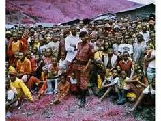Richard Mosse. Infrared photography. Tutsi Town, North Kivu, Eastern Congo, 2010