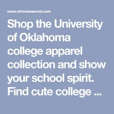Shop the University of Oklahoma college apparel collection and show your school spirit. Find cute college hoodies, sweatshirts, t-shirts, and more today at PINK! Oklahoma Colleges, University Of Oklahoma, College Apparel, College Hoodies, Perfect Mother's Day Gift, School Spirit, College Outfits, Mother Day Gifts, Sweatshirts