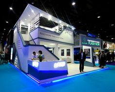 Exhibition Stall Design, Exhibition Stands, Exhibit Design, Double Deck, Stand Design, Exhibitions, Display, Building, Projects