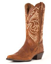 LOVEEE!!!!!Women's Heritage Western J Toe Wing Tip Boot - Wood