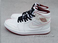 Air Jordan 1 Mid White Gym Red-Black New Release b795ce26d356