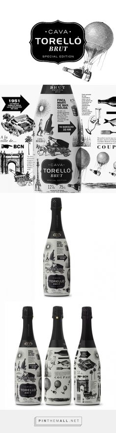 Torelló - Brut Special Edition #packaging designed by Enric Aguilera Asociados - http://www.packagingoftheworld.com/2016/01/torello-brut-special-edition.html