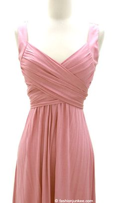 Weekly crossover fauxe wrap vintage inspired jersey dress dusty pink