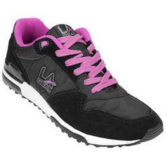 Zapatillas LA Gear Brooklyn - Negro+Violeta
