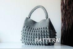 Crochet Pattern Crochet Bag Pattern Tote Pattern by isWoolish