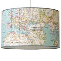 Hanglamp 40cm Landkaart