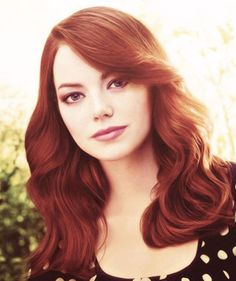 Emma Stone in my OWN opinion only pretty DYED redhead (Celebrity) in hollywood!!