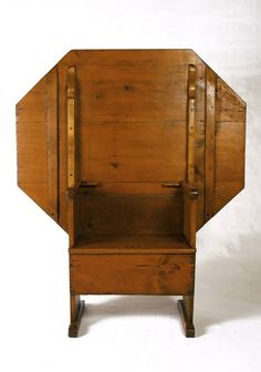 18th C. Octagonal Hutch Table Ca. 1780 1800 Connecticut River Valley Shoe  Foot
