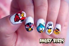 angry bird nail tutorial