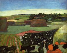 Haystacks in Brittany, 1890, Paul Gauguin | Charly W. Karl