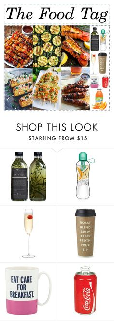 """""""The food tag"""" by promise-the-dinosaur ❤ liked on Polyvore featuring interior, interiors, interior design, home, home decor, interior decorating, AMBRE, LSA International, Kate Spade and Koolatron"""