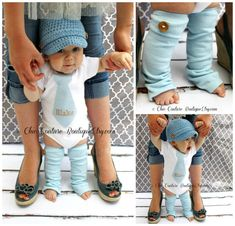 NEW Baby Boy Fall Baby Blue Herringbone Personalized Tie Onesie & Wood Button Leg Warmers SET. Thanksgiving, Harvest, Photo Prop, Tan, Beige on Etsy, $31.95