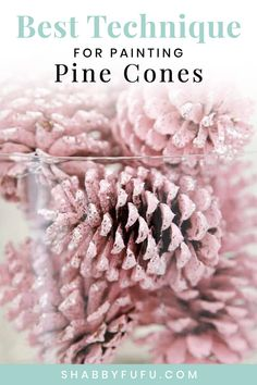Painting pine cones is a fun thing to do for adults and kids alike! Pine cones are free and so this is budget friendly! We are showing you the best and fastest way to paint your pine cones with a video included as well. #pinecones #christmasdecorating #budgetchristmas #christmasprojects #holidaydecor #diyholiday #pinkchristmas #pineconecrafts #pink #painting #glitter #sff225 Christmas Crafts To Sell Make Money, Handmade Christmas Crafts, Christmas Crafts For Adults, Diy Crafts For Adults, Christmas On A Budget, Fall Crafts, Adult Crafts, Summer Crafts, Holiday Crafts