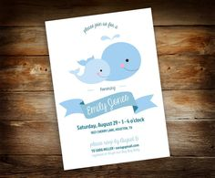 Baby Whale Baby Shower  Mommy and Baby by GalleriaDesignStudio