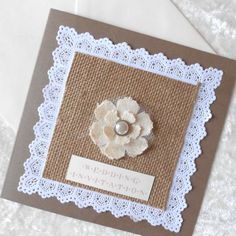 Rustic Wedding Invitation with Burlap Hessian x 5 (Ref 152) on Etsy, $15.97