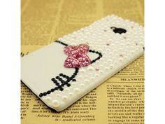 #Cute Pearl kitty Case For #HTC One #M7
