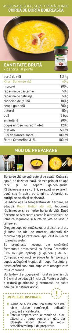 Asezonare supe, supe-crema, ciorbe - RETETE Supe, Food, Essen, Meals, Yemek, Eten