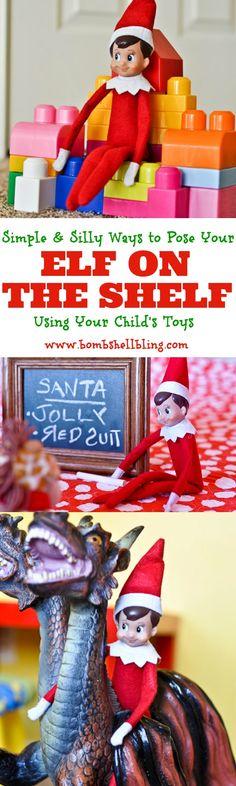 Elf on the Shelf Using Toys - Cute, simple ideas!