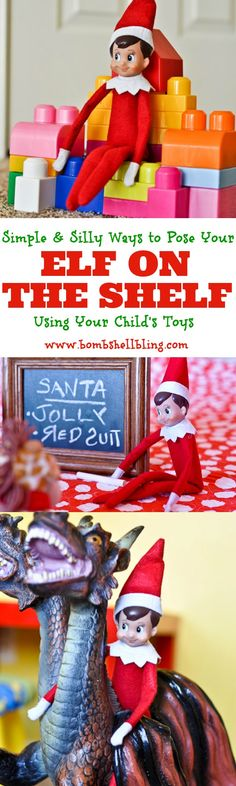 Elf on the Shelf Using Toys - Cute, simple ideas!