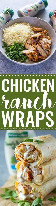 Chicken Ranch Wraps