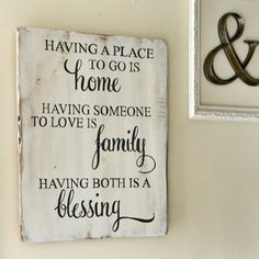 "Wood Signs ""Having a place to go is home"" Wood Sign {customizable} - Aimee Weaver Des. Pallet Crafts, Pallet Projects, Wood Crafts, Projects To Try, Diy Wood, Woodworking Projects, Wood Signs For Home, Family Signs, Family Boards"
