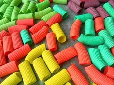 How To Make Rainbow Pasta Noodles for Necklaces!