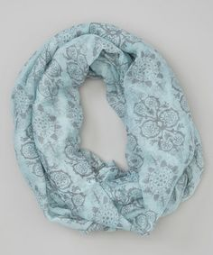 Love this Light Blue Geometric Infinity Scarf on #zulily! #zulilyfinds