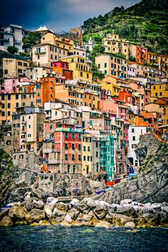 Italy. I think this is Cinque Terra? Someone let me know! :)..Yes... & I want to go there next