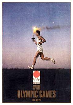 Poster für die Olympischen Spiele in Tokio. 1964. Design by Yusaku Kamekura