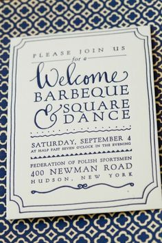 welcome party letterpress