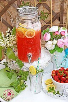 rabarbarowo-cytrynowa lemoniada - rhubarb lemonade