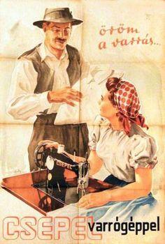 csepel bicikli plakát - Google keresés Retro Posters, Vintage Posters, Illustrations And Posters, Hungary, Budapest, The Past, Advertising, History, Funny