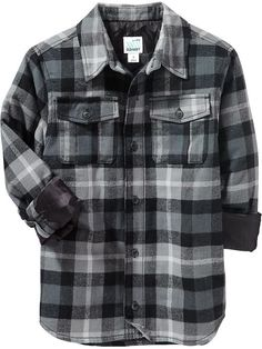 Boys Flannel Shirt Jackets Product Image