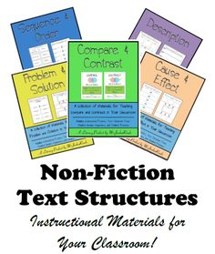 MsJordanReads: Non Fiction Text Structures---LOTS of great resources in this blog!!!