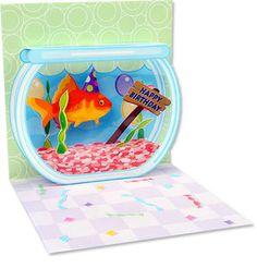 Pop Up Greeting Card Goldfish Happy Birthday | eBay