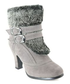 Take a look at this Gray Faux Fur Buckle Boot by Anna Shoes on #zulily today! Dec 6 2013 Sale ends in 1 day 21 hours $22.32