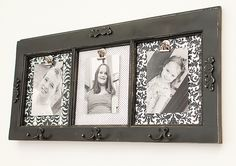 How about adding hooks to the picture frame idea and turning an old window into a photo display coat rack.