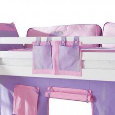 Spielbett Toby - Massivholz Buche Weiß lackiert - mit Rutsche und Textilset   Home24