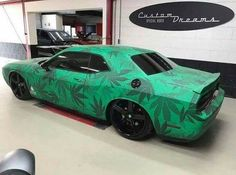 Dopest ride ever! 💯💯 …unless you live where cannabis is illegal, then it's probably the most heaty thing ever. 😒😒 Still dope tho! What would you call this thing? 💁💁 I feel like y'all can come up. Grease Monkey Garage, Stoner Style, Creative Names, Puff And Pass, Car Goals, Stoner Girl, Dodge Challenger, Cannabis, Cars